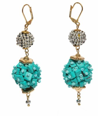 STUDIOB40 Turquoise Fireball hanging earrings Beads Alloy Drop Earring