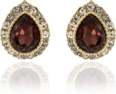 Tara Lifestyle Red Stone Alloy Stud Earring