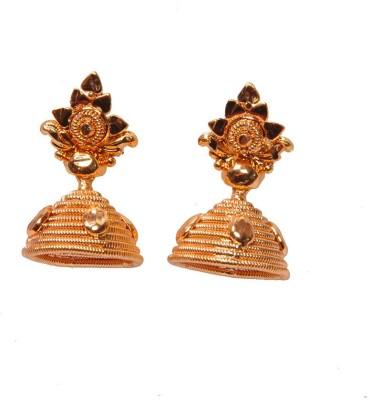 PFJ PFJ3040-EARRING Cubic Zirconia Brass, Copper Jhumki Earring