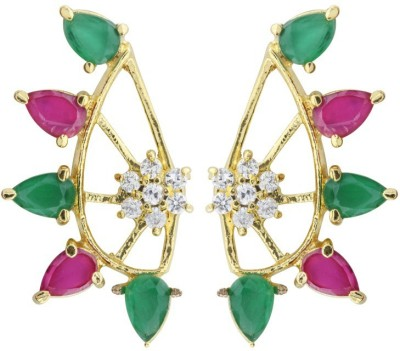 Fashion Frill New Multi Color Metal Cuff Earring