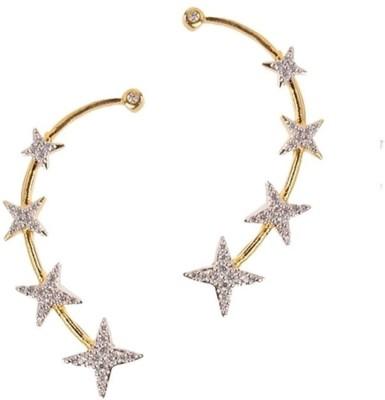 JDX American Diamond 0 Alloy Cuff Earring