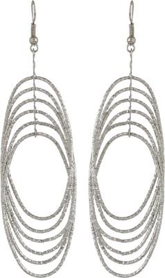 GemRoute Silver Ellipse Multi Strand Alloy Dangle Earring