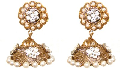 Red Gold JALWA25 Metal Jhumki Earring