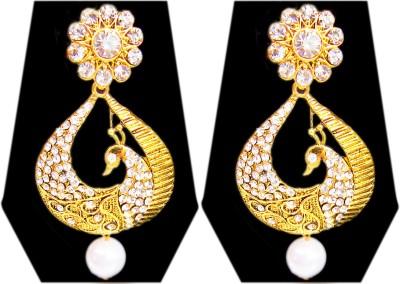 Triumphin Golden Peacock Zinc Drop Earring