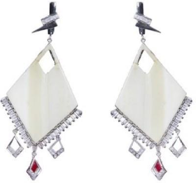 Amalaan Jewels Crystal Crystal Brass Chandelier Earring