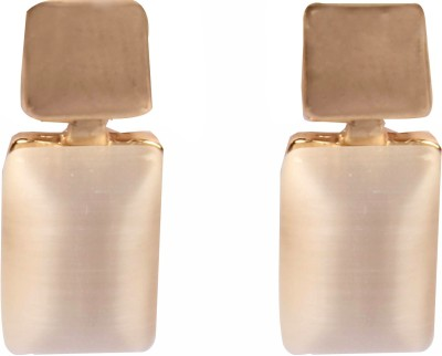 Divitha Allure Golden glow rectangle casual pairs. Alloy Drop Earring
