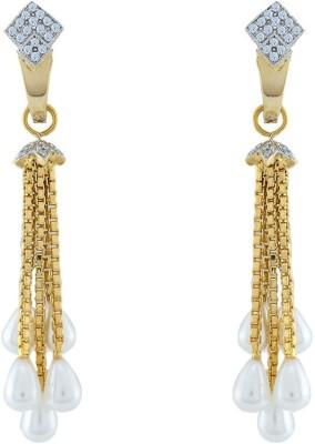 Jewlot Elegant AD 2008 Brass Drop Earring