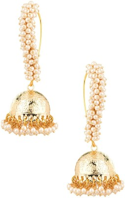 Voylla Artifictial Textured Pearl Alloy Jhumki Earring