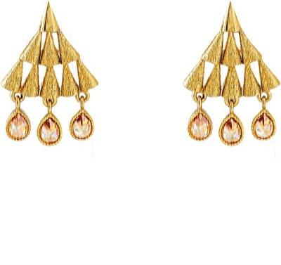 Art Nouveau New Traditional Brass Earring Set