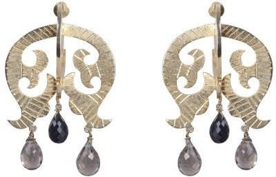 Amalaan Jewels Designer Crystal Brass Drop Earring