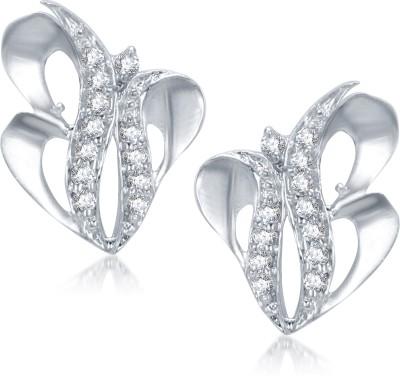 VK Jewels V B Design Cubic Zirconia Alloy Stud Earring