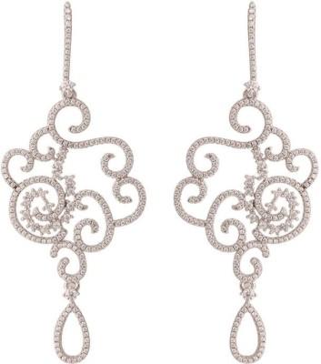 TUAN handcrafted designer Cubic Zirconia Sterling Silver Chandelier Earring