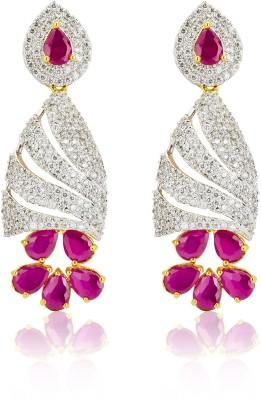 Fashion Bajar RCFR7 Crystal, Ruby Alloy Drop Earring
