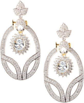Swasti Jewels American Diamond AD Traditional Colourful Gift For Women Crystal Metal Drop Earring