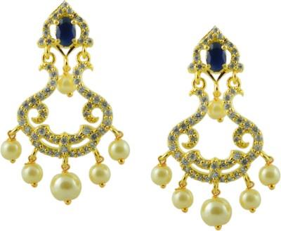 Maalyaa AD Brass, Copper Stud Earring