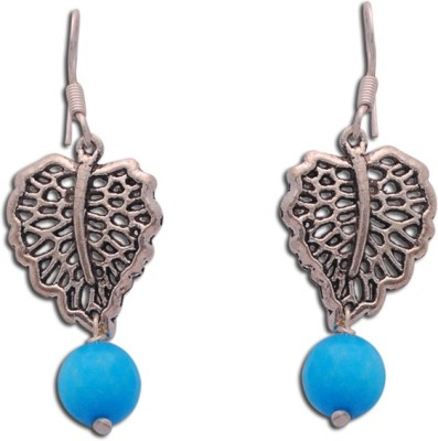 The Fine World Elegant and graceful earring made using German Silver Sterling Silver Dangle Earring