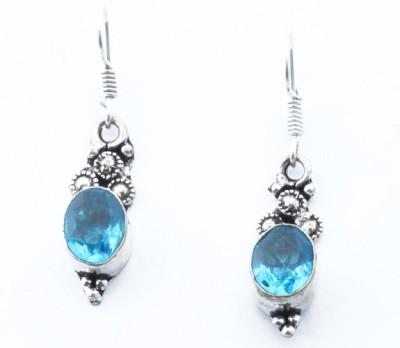 Waama Jewels Blue Beauty Cubic Zirconia Metal Drop Earring