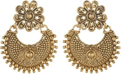 Fabula Gold Carved Traditional Ethnic Jewellery ChanBali Drop for Women & Girls Metal Dangle Earring