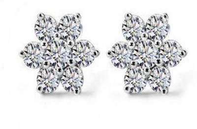 Caratcube Flower Shaped Stud Earrings Crystal Alloy Stud Earring
