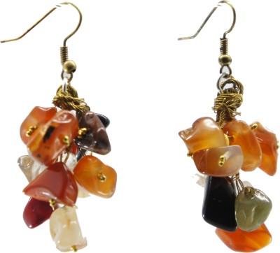 TATWAA THE ELEMENTS GRAPEVINE 2 Agate Stone Dangle Earring