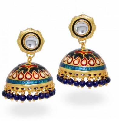Jewelskaro Designer Antique jhumkas designs Fashion jewelry meenakari Alloy Jhumki Earring