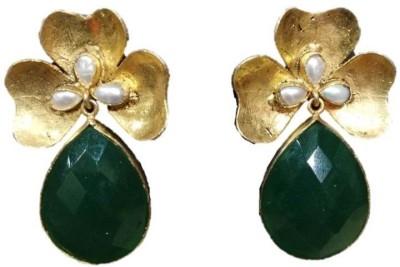 Rajgharana Floral Drop Cubic Zirconia Alloy Drop Earring
