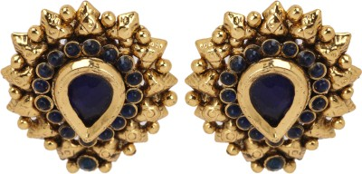 Maisha Traditional Dark Blue Alloy Stud Earring