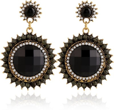 Insia Zurie Black Alloy Drop Earring
