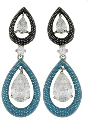 Gehnamart Glorious Blue Cubic Zirconia Alloy Dangle Earring