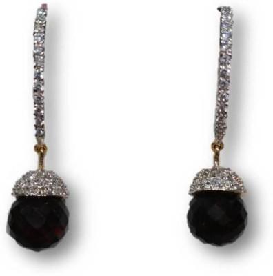 Rajgharana Black Beauty Cubic Zirconia Alloy Drop Earring