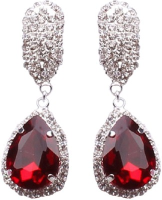 Aaishwarya Drop A Beat Red Crystal Crystal Alloy Drop Earring