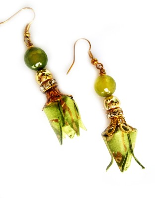 Origami Noshi Jade Tulips Paper Dangle Earring
