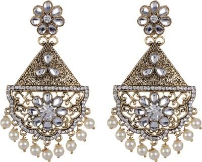 SAADGI Rajwada Royal Class Beads Alloy Drop Earring