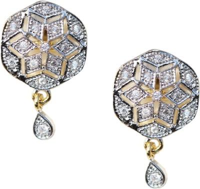 Kenza American Diamond Alloy Drop Earring