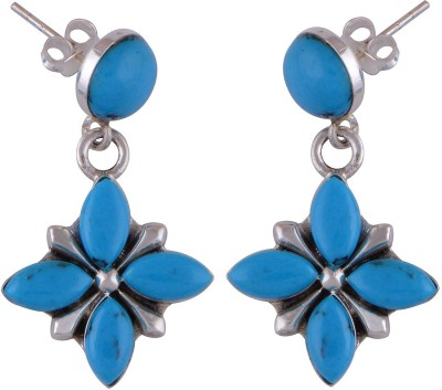Silver Prince Designer Turquoise Silver Drop Earring
