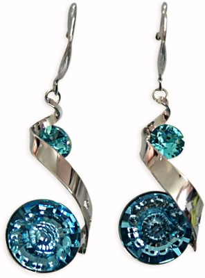 Dream Jewels Red Flowers Swarovski Crystal Zinc Dangle Earring