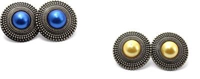Zidox Pack Of Two Beautiful Brass Stud Earring