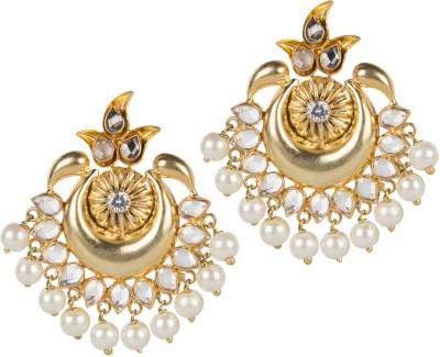 Mehtaphor Neysa Crystal Brass Chandbali Earring