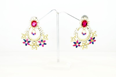 Chouhan Stylish designer earring Metal Chandbali Earring