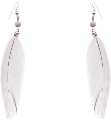Adorelabel Fashion Feather Alloy White Brass Drop Earring