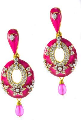 imillery imillery pink meena Alloy Drop Earring