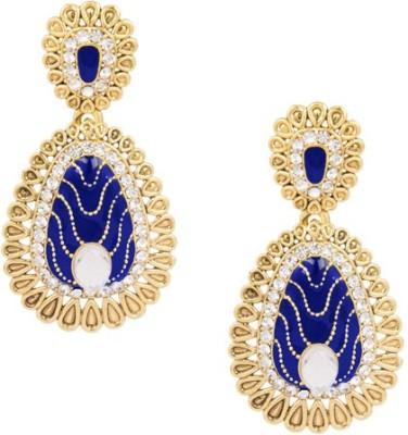 SIDDH Royal Rajasthani Alloy Chandbali Earring