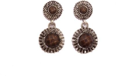 Greek Sojourn F3B64 Zircon Brass Drop Earring