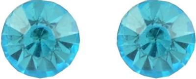 Diovanni Single Stone Stud Blue Crystal, Alloy Stud Earring