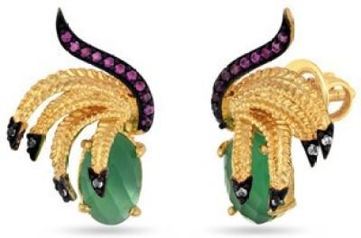 VelvetCase Naturally Urban Stud Earrings Topaz Silver Stud Earring