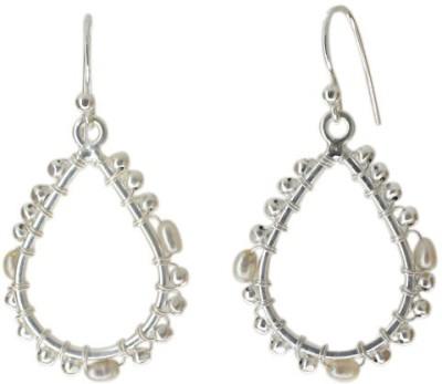 Aabhushan Aabhushajewels Pearl Sterling Silver Dangle Earring