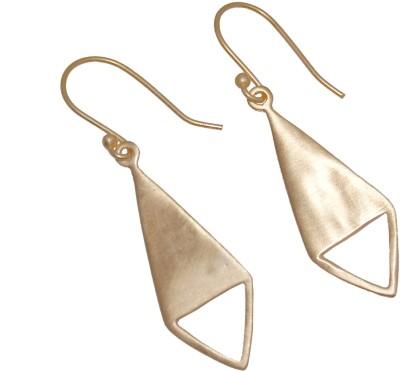 Arvino Deco Triangle Brass Drop Earring
