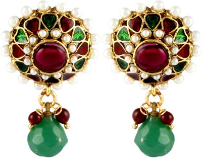 Gehnamart Sparklers Green Alloy Drop Earring