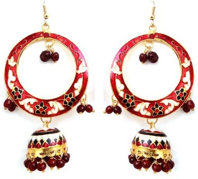 Kalaplanet Thewa Long Jhumka Alloy Dangle Earring