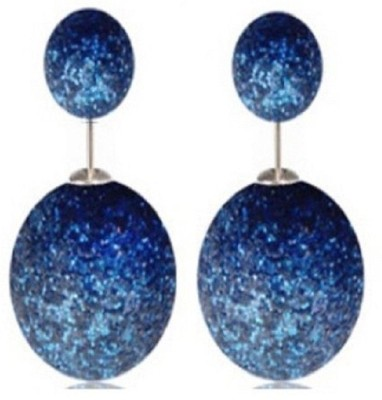 Stile Double Pearl Pearl Alloy Stud Earring
